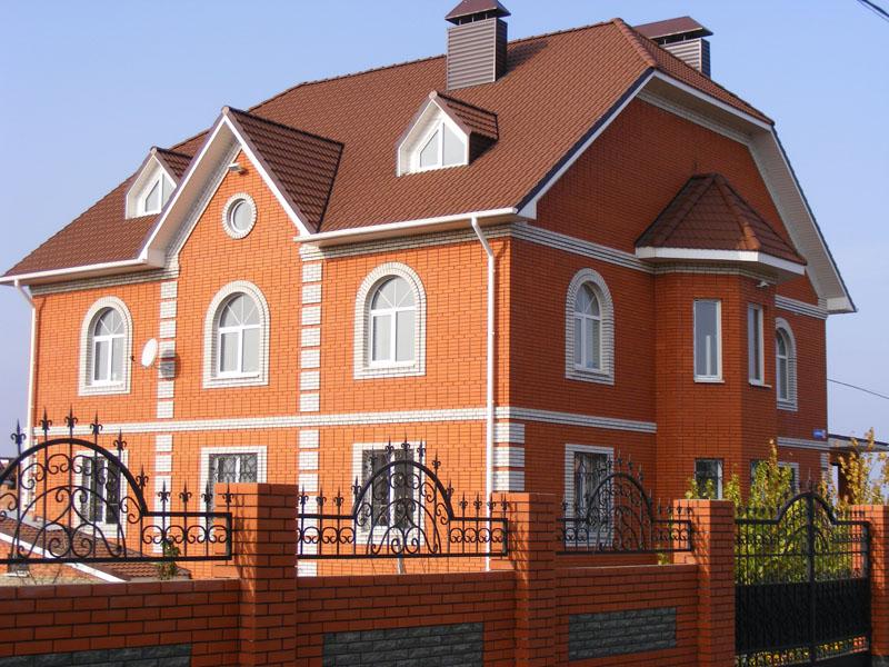 Дома из красного кирпича фото